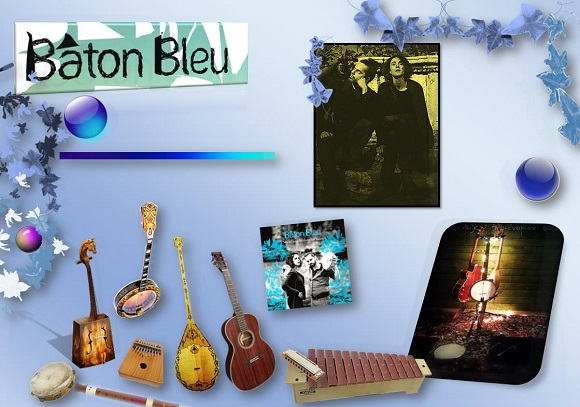 blues baton bleu